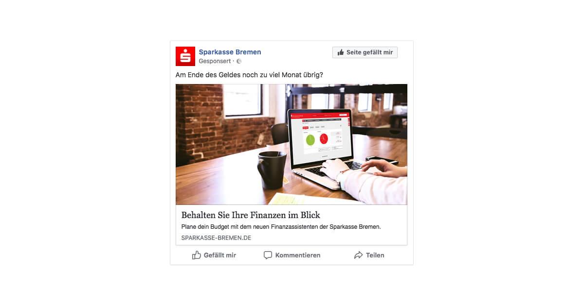 Sparkasse Bremen - Facebook Ad
