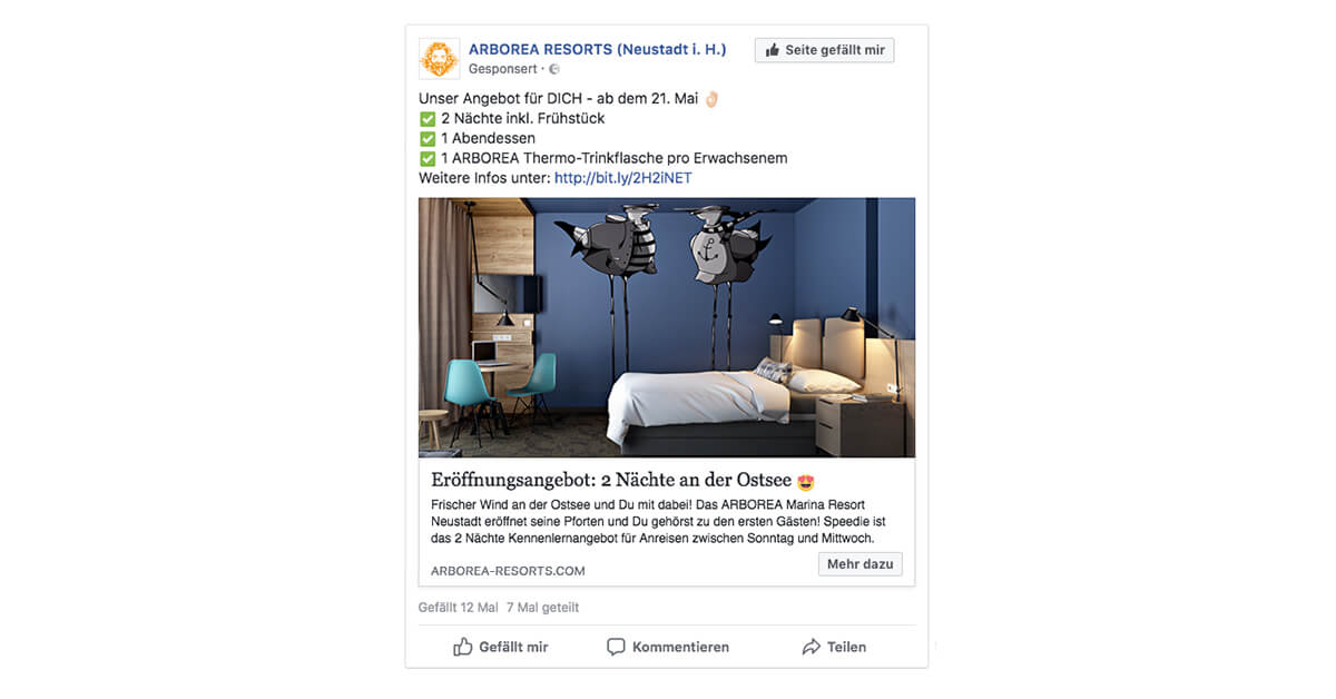 ARBOREA RESORTS - Facebook Werbung