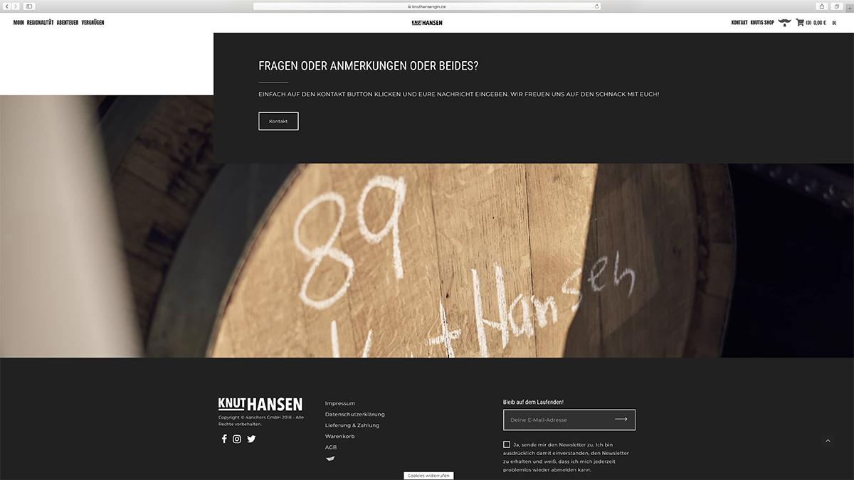 jung und billig werbeagentur knut hansen webdesign bildschirm6 - Relaunch für Knut Hansen DRY GIN