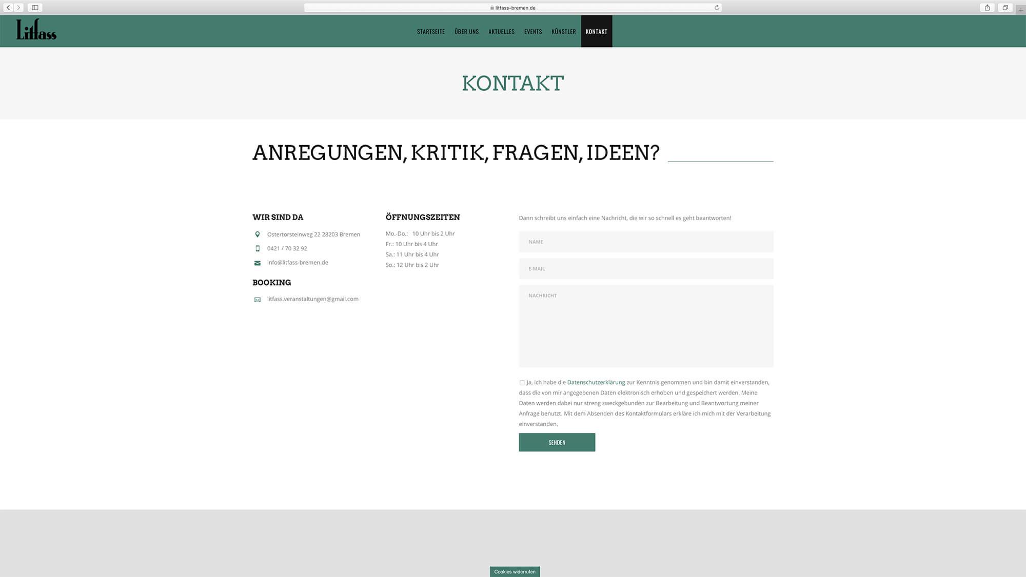 jung und billig werbeagentur litfass bar bildschirm2 - Litfass Bremen
