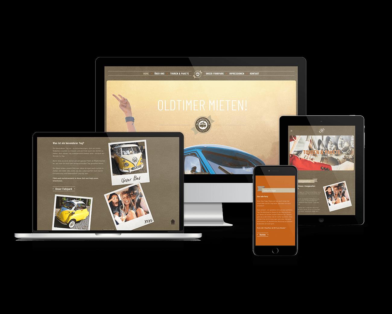 jung und billig werbeagentur oldtimertraum caputh devices webdesign - Oldtimertraum Caputh