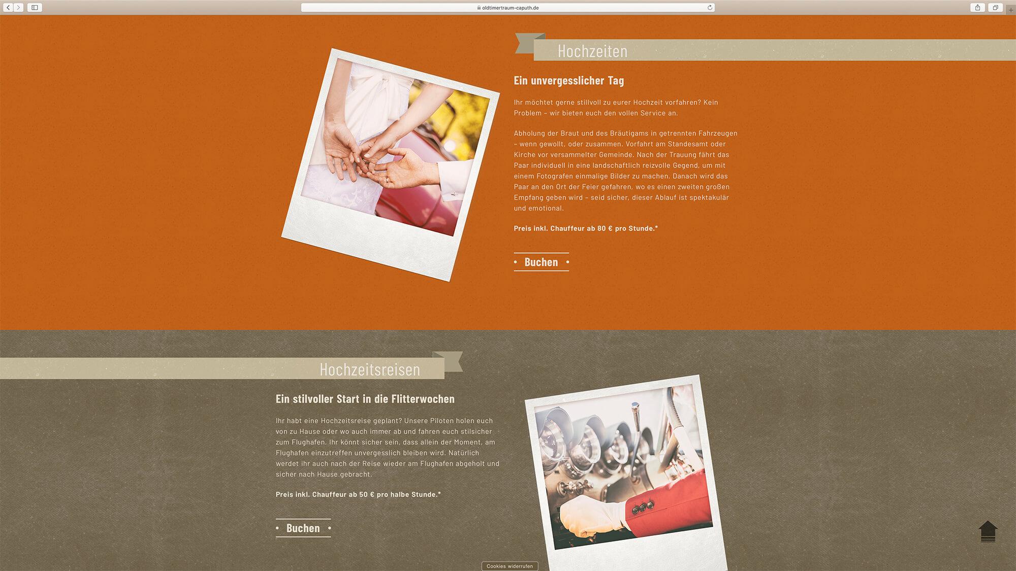 jung und billig werbeagentur oldtimertraum caputh webdesign bildschirm 5 - Oldtimertraum Caputh