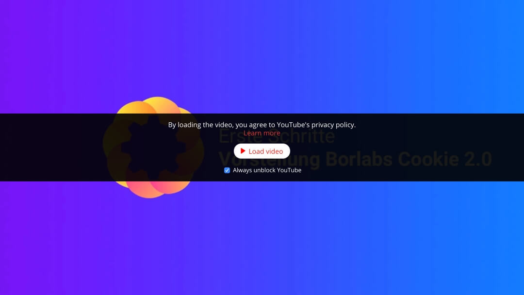 YouTube 2 - Borlabs Cookie Plugin für WordPress