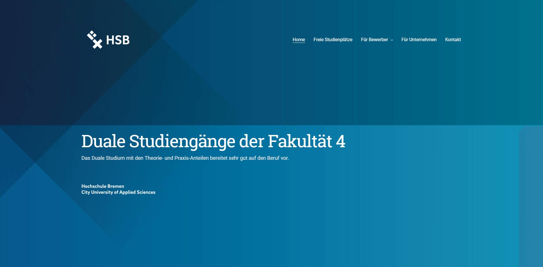responsive website hochschule bremen fak4 - Hochschule Bremen - Fakultät 4