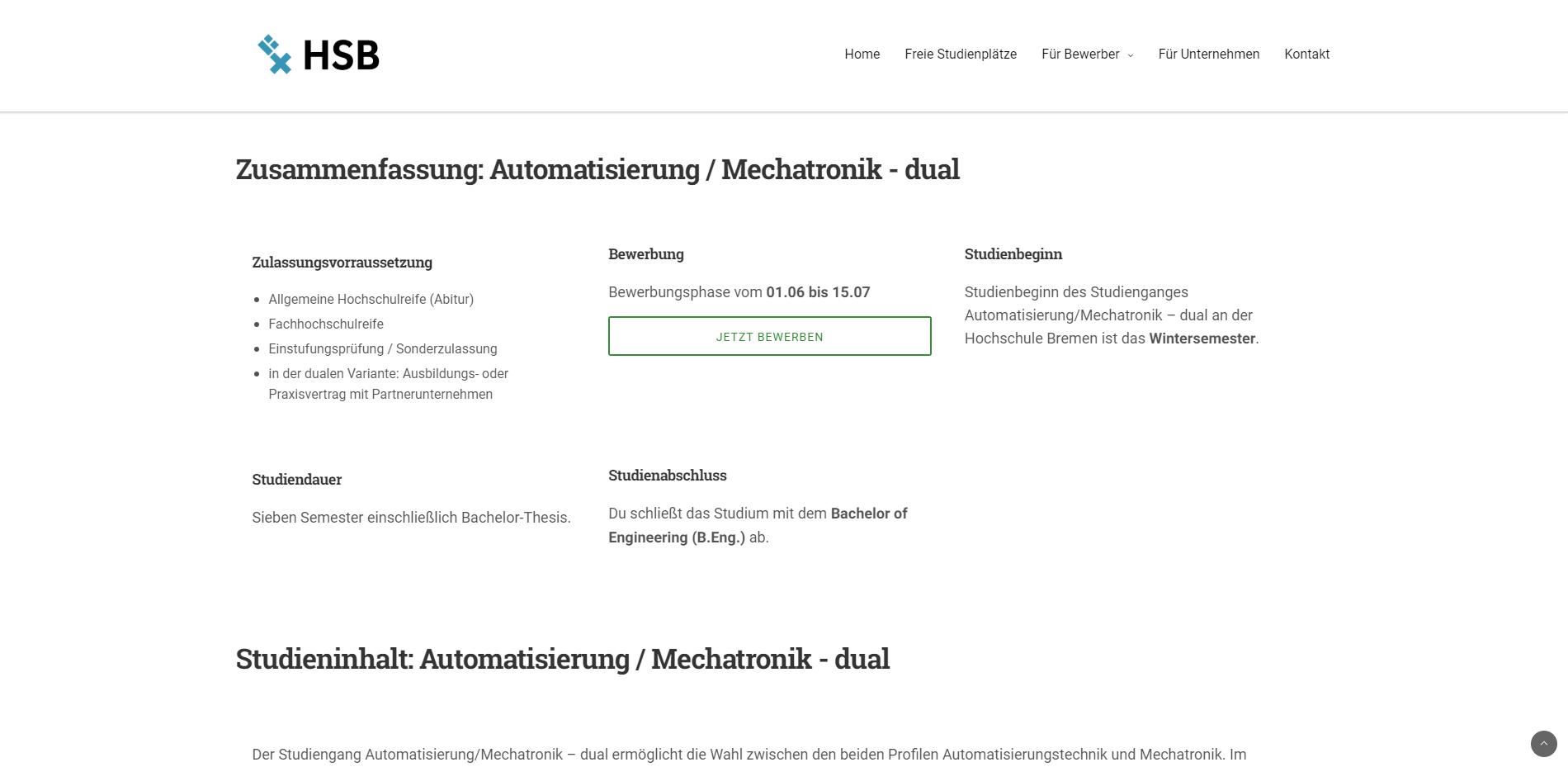 wordpress seite hsbremen 4 - Hochschule Bremen - Fakultät 4